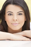 Beautiful Face of Hispanic Woman or Girl Stock Images