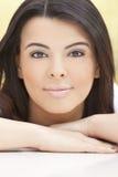Beautiful Face of Hispanic Woman or Girl stock images