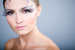Beautiful face with make-up Royalty Free Stock Photo
