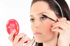 Beautiful Face Makeup Royalty Free Stock Images