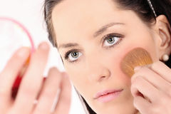 Beautiful Face Makeup Stock Photo
