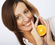 beautiful face orange s woman 库存照片