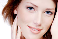 Beautiful face with the smile Stock Photography