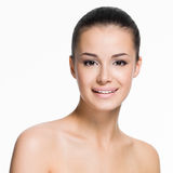 Beautiful face of  smiling woman Royalty Free Stock Photo