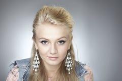 Beautiful face in studio portrait Stock Images