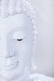 Beautiful face of white Buddha image Royalty Free Stock Photography