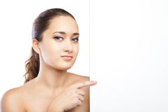 Beautiful face of woman with clean skin isolated Stock Photography
