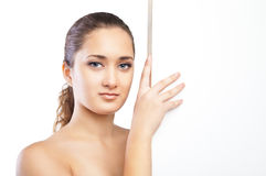 Beautiful face of woman with clean skin isolated Royalty Free Stock Photo