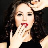 Beautiful Face. Woman with Make up Stock Photos