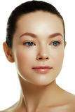 Beautiful face of a young caucasian woman. Woman beauty face Stock Images