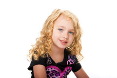 Beautiful face of a young girl Stock Image