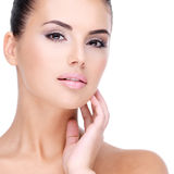 Beautiful face of young girl  with  fresh healthy skin Royalty Free Stock Photo