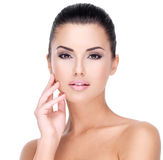 Beautiful face of young girl  with  fresh healthy skin Royalty Free Stock Image