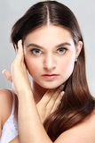 Beautiful face of young model Royalty Free Stock Images