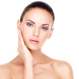 Beautiful   face of the young pretty woman. Royalty Free Stock Photos