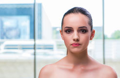The beautiful face of young woman Royalty Free Stock Photo