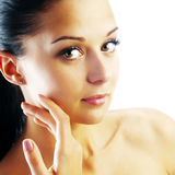 Beautiful face of young woman Royalty Free Stock Photography
