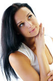 Beautiful face of young woman Stock Image