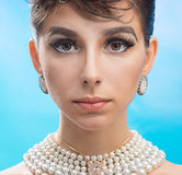 Beautiful face of a young woman Royalty Free Stock Images
