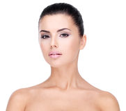 Beautiful face of young woman with clean skin Royalty Free Stock Photo
