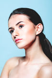 Beautiful face of young woman Royalty Free Stock Photo