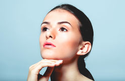 Beautiful face of young woman Royalty Free Stock Images