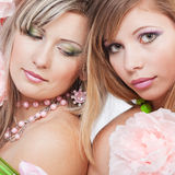 Beautiful faces Stock Photography