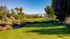 Beautiful Fairway At Indian Wells Golf Course royalty free stock images