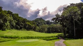 Beautiful Fairway At La Iguana Golf Course, Herradura, Costa Rica stock photography