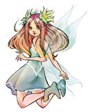 Beautiful fairy. Flying isolated  on white Royalty Free Stock Photography