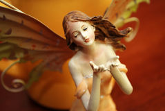 Beautiful fairy. With brown backround Stock Photography
