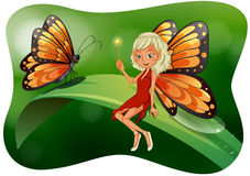 Beautiful fairy with butterfly Royalty Free Stock Images