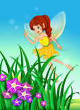 A beautiful fairy in the garden Royalty Free Stock Photo