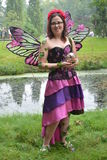 Beautiful Fairy In Garden Stock Photography