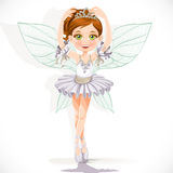 Beautiful fairy girl in white dress Stock Photos