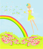 Beautiful fairy  graphic Stock Images