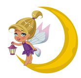 Beautiful fairy. A beautiful fairy isolated on a white background Royalty Free Stock Photography