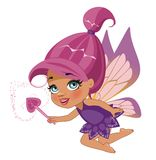 Beautiful fairy. A beautiful fairy isolated on a white background Royalty Free Stock Images