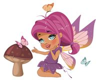 Beautiful fairy. A beautiful fairy isolated on a white background Stock Photos