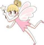 Beautiful fairy  magic wand.pink cute vector illustration. Stock Photography