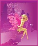 Beautiful Fairy Purple Acid Royalty Free Stock Photography