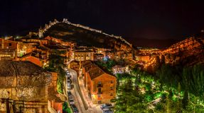 Free Beautiful Fairy Tale Village At Night Stock Image - 160289971