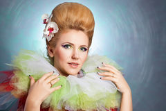 Beautiful fairy-tale woman royalty free stock photography