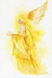 Beautiful fairy in yellow Stock Image