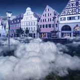 Beautiful fairyland in the sky in blue toning Royalty Free Stock Photography