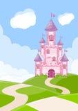 Beautiful fairytale castle Stock Images