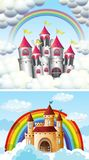 A Beautiful Fairytale Castle in Sky Royalty Free Stock Photo