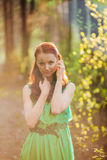 Beautiful fairytale girl with face art Royalty Free Stock Photos