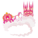 Beautiful fairytale pink castle Royalty Free Stock Images