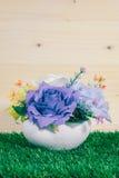 Beautiful fake flower vases Royalty Free Stock Image